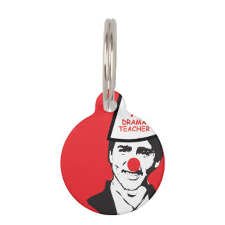 Hold My Beer Funny Justin trudeau Canada Clown Pet Name Tag