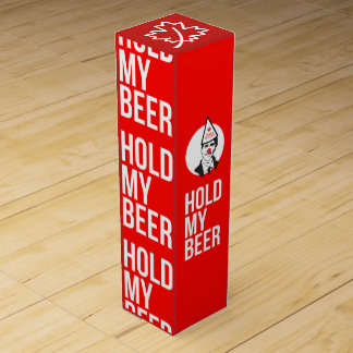 Hold My Beer Funny Justin Trudeau Wine Box