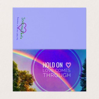 HOLD ON <3 RAINBOW 2x3.5 MINI CARD
