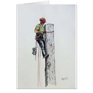 Hold on tight tree surgeon card