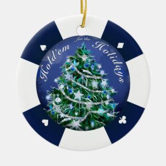 Hold'Em for the Holidays Ceramic Ornament