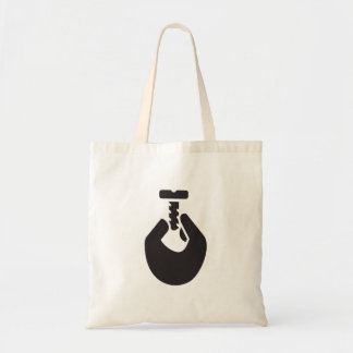 Holding A Screw Tote Bag