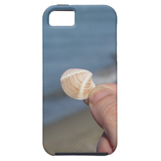 Holding a seashell in the hand iPhone 5 cover