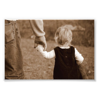Holding Daddy's Hand Photo Print