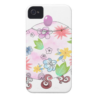 Holding Flower with LOVE iPhone 4 Case-Mate Case