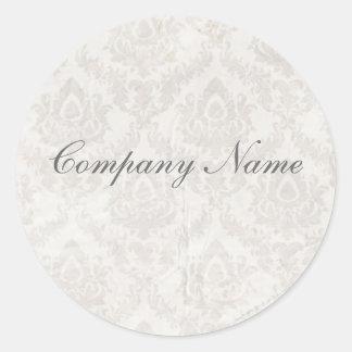 holding hands damask wedding planner business classic round sticker