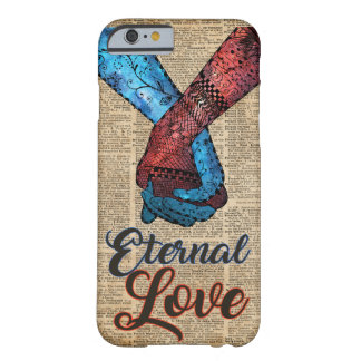 Holding Hands,Eternal Love,Space Dictionary Art Barely There iPhone 6 Case