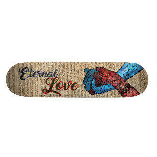 Holding Hands,Eternal Love,Space Dictionary Art Skate Boards