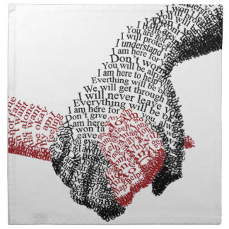 Holding Hands, Love conquers all Napkin