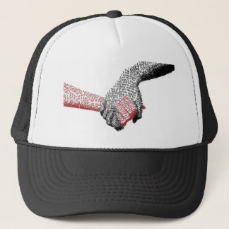 Holding Hands, Love conquers all Trucker Hat