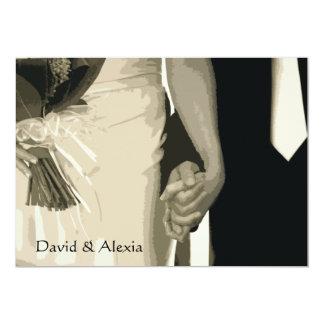Holding Hands Post Wedding Brunch Invitation