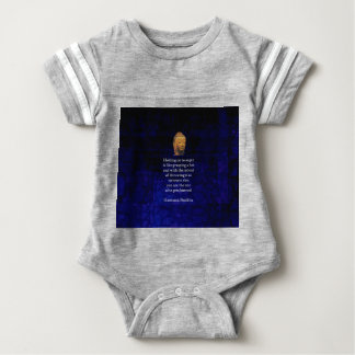 Holding On To Anger Inspirational Buddha Quote Baby Bodysuit