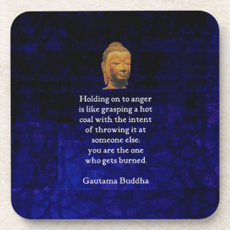 Holding On To Anger Inspirational Buddha Quote Coaster