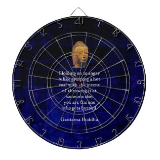 Holding On To Anger Inspirational Buddha Quote Dartboard