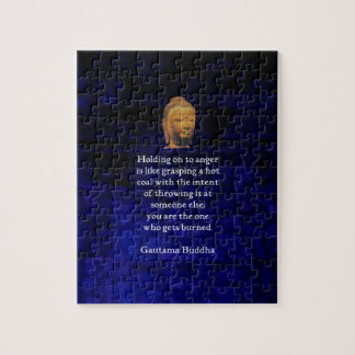 Holding On To Anger Inspirational Buddha Quote Jigsaw Puzzle
