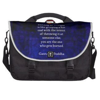Holding On To Anger Inspirational Buddha Quote Laptop Computer Bag