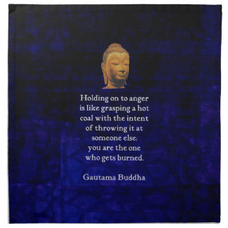 Holding On To Anger Inspirational Buddha Quote Napkin