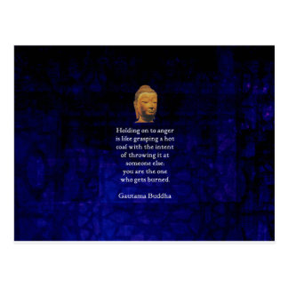Holding On To Anger Inspirational Buddha Quote Postcard