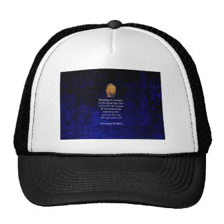 Holding On To Anger Inspirational Buddha Quote Trucker Hat