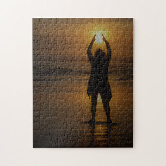 Holding up the sun jigsaw puzzle