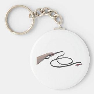HoldingWhip103110 Basic Round Button Keychain