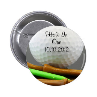 Hole In One 2 Inch Round Button
