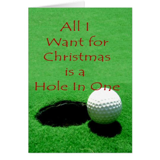 Hole In One Christmas Card
