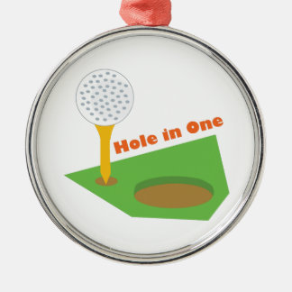 Hole In One Metal Ornament