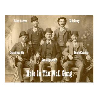 Hole In The Wall Gang Butch Cassidy & Sundance Kid Postcard