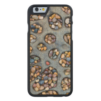 Holes filled with pebbles, CA Carved® Maple iPhone 6 Slim Case