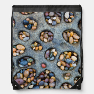 Holes filled with pebbles, CA Drawstring Bag