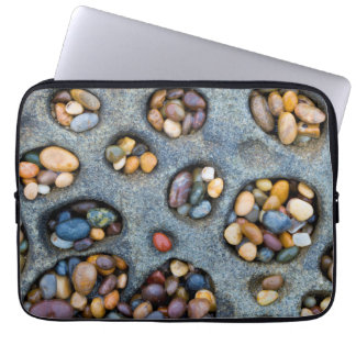 Holes filled with pebbles, CA Laptop Computer Sleeves