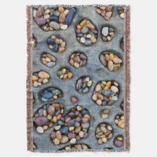 Holes filled with pebbles, CA Throw Blanket
