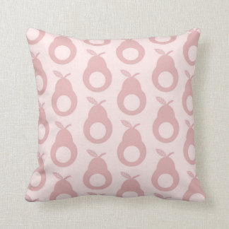 Holey Pears - Marshmellow Pink Throw Pillow
