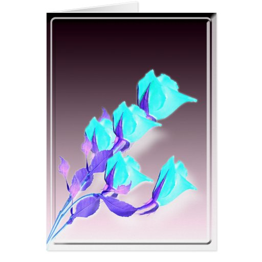 Holiday Abstract Roses Cards