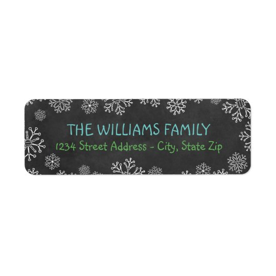 Holiday Address Labels | Black Chalkboard