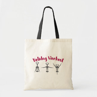 Holiday Alcohol Workout Budget Tote Bag