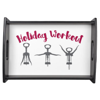 Holiday Alcohol Workout Serving Tray