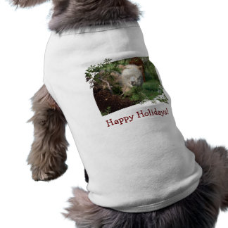 Holiday Alpaca Dog Shirt