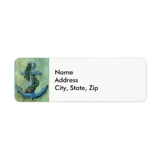 Holiday Anchor Return Address Label