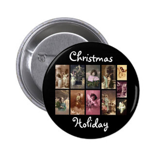 Holiday Angels Button Customizable Button