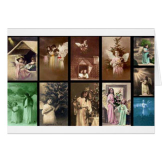 Holiday Angels I Customizable Greeting Card