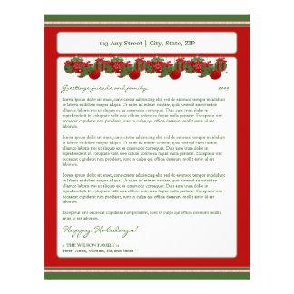 Holiday Annual Newsletter Letterhead: ornaments Letterhead