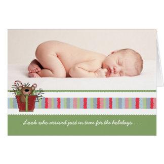 Holiday Baby Bear Folded Photo Card