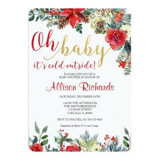 Holiday baby shower invitation, christmas card