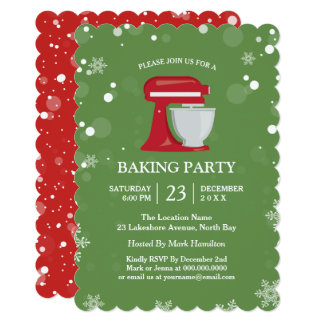 Holiday Baking Party Invitations