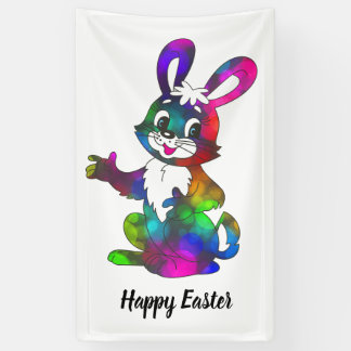Holiday Banner: Colorful Easter Rabbit Banner