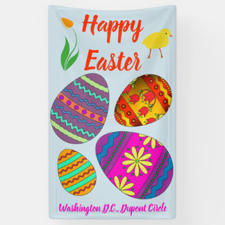 Holiday Banner: Colourful Easter Eggs Banner