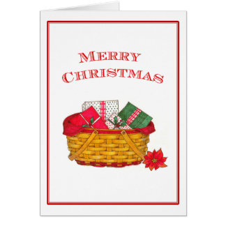 Holiday Basket Christmas Card
