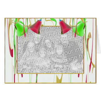 Holiday Bell Joy (photo frame) (wide) Card